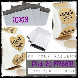 20 Poly Mailers & 20 FREE Stickers